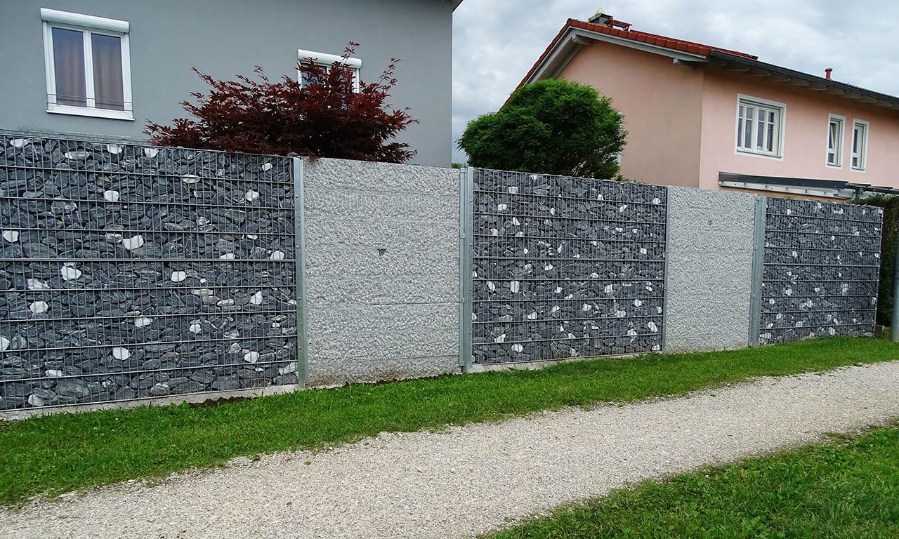 Gabioenenmauer