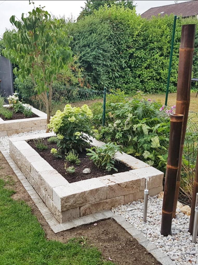 Gartengestaltung mit Pflanzenbeet